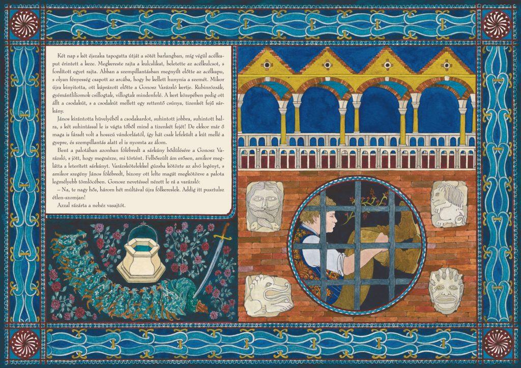 Illusztráció Wass Albert Repülő kastély című meséjéhez, Helikon kiadó 2007.
