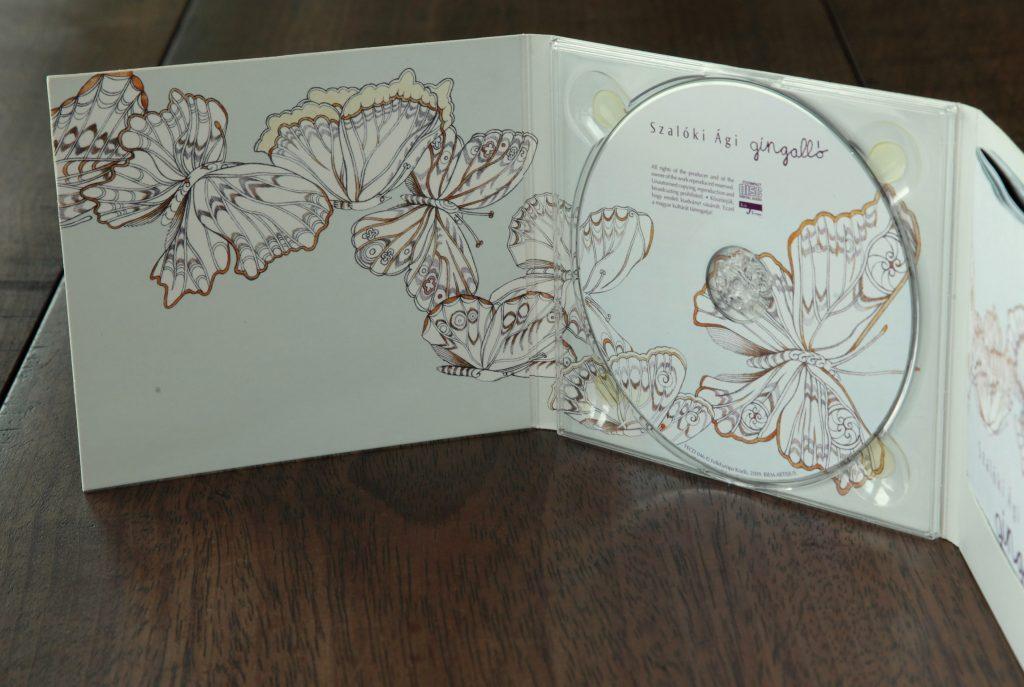 Szalóki Ági - Gingalló, CD borító tervezés és grafika