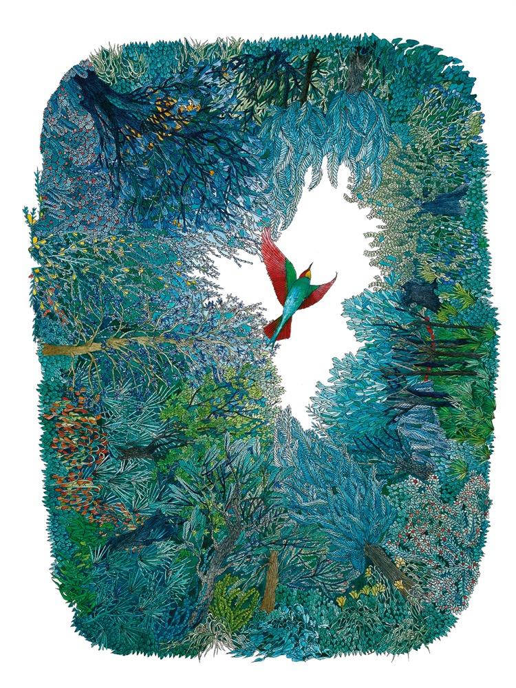 Illusztráció Babits Mihály verséhez, A világ 12 tételben, Helikon kiadó 2007.