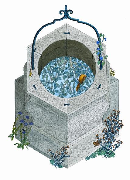 Illusztráció Kányádi Sándor verséhez, A Világ 12 tételben, Helikon kiadó 2007.