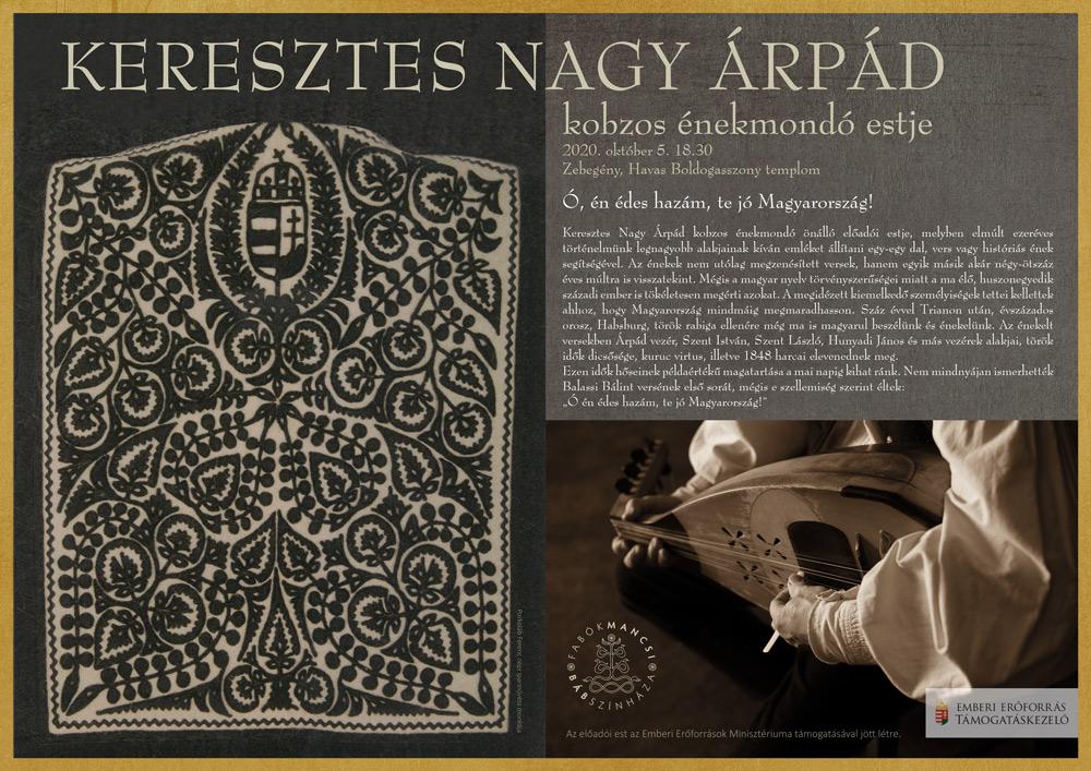 Plakáttervezés Keresztes Nagy Árpád kobzos énekmondó számára