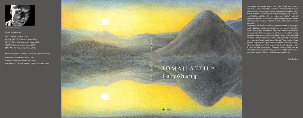 Tomai Attila költő Folyóhang című kötetének borítóterve